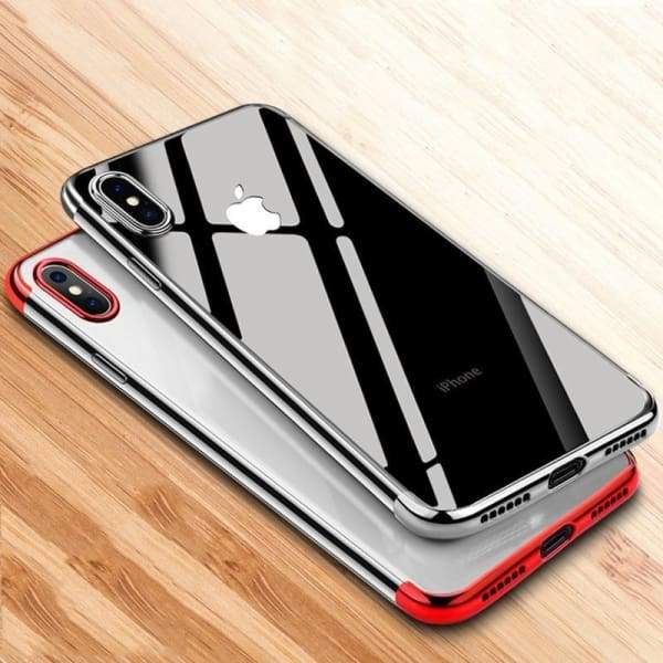 Transparent Fitted Case For Iphone X /8/7/ 6(S) Plus - Iphone Cases & Bags - Paidcellphone