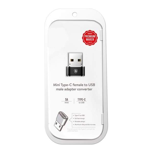Usb Male To Usb Type C Female Converter - Chargers & Cables - Paidcellphone