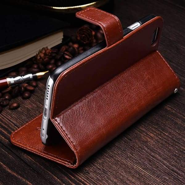 Wallet Leather Case For Iphone 6/ 6S Plus Luxury Coque Cover - Iphone Cases & Bags - Paidcellphone
