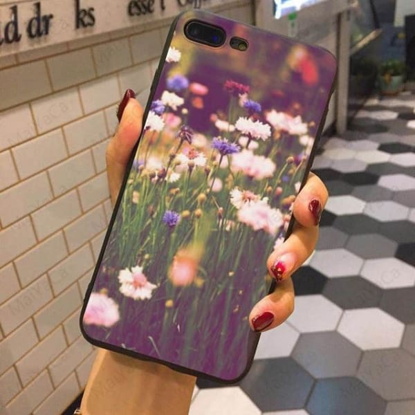 Wild Flowers Iphone Case For Iphone 5 /5S /5Se /6 /6S /7 /7Plus /8 /8Plus - 7 / For Iphone 5 5S Se - Iphone Cases & Bags - Paidcellphone