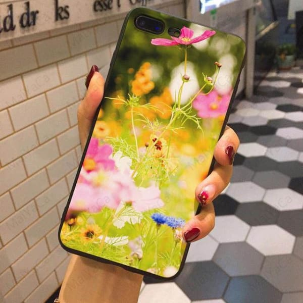 Wild Flowers Iphone Case For Iphone 5 /5S /5Se /6 /6S /7 /7Plus /8 /8Plus - 6 / For Iphone 5 5S Se - Iphone Cases & Bags - Paidcellphone