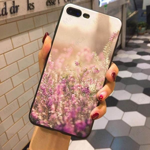 Wild Flowers Iphone Case For Iphone 5 /5S /5Se /6 /6S /7 /7Plus /8 /8Plus - 8 / For Iphone 5 5S Se - Iphone Cases & Bags - Paidcellphone