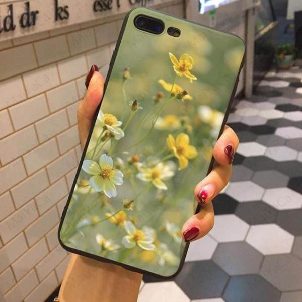 Wild Flowers Iphone Case For Iphone 5 /5S /5Se /6 /6S /7 /7Plus /8 /8Plus - 2 / For Iphone 5 5S Se - Iphone Cases & Bags - Paidcellphone