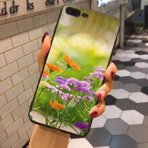 Wild Flowers Iphone Case For Iphone 5 /5S /5Se /6 /6S /7 /7Plus /8 /8Plus - 3 / For Iphone 5 5S Se - Iphone Cases & Bags - Paidcellphone