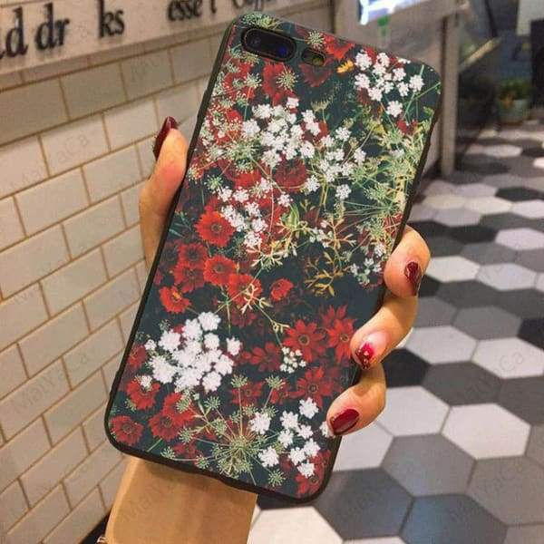 Wild Flowers Iphone Case For Iphone 5 /5S /5Se /6 /6S /7 /7Plus /8 /8Plus - 5 / For Iphone 5 5S Se - Iphone Cases & Bags - Paidcellphone
