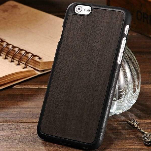 Woody Texture Case For Iphone 6 /6S - Black - Iphone Cases & Bags - Paidcellphone