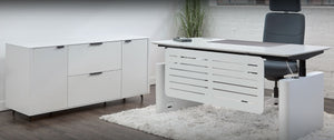 evolution lift desk and credenza