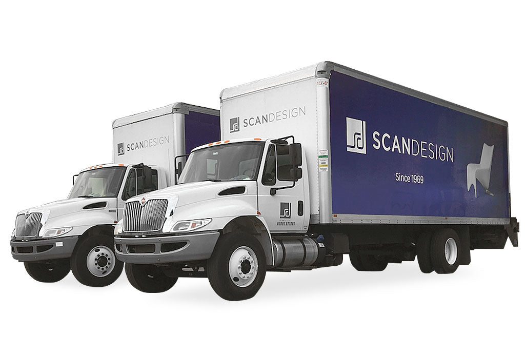 Scan Design delivery trucks