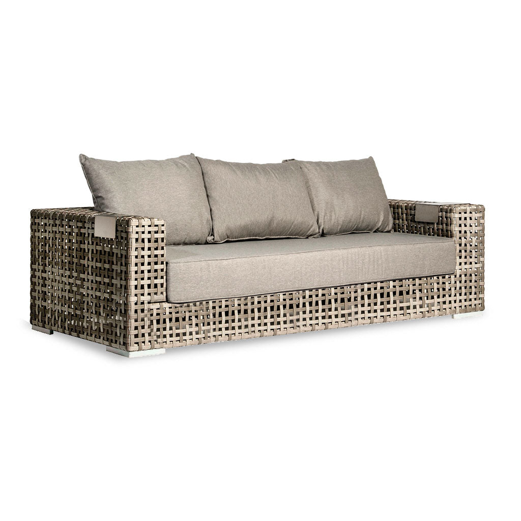 outdoor sofa with woven frame