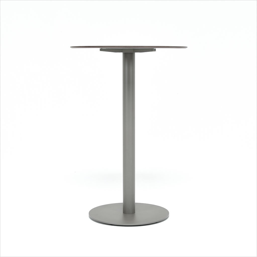 round bar table on pedestal base