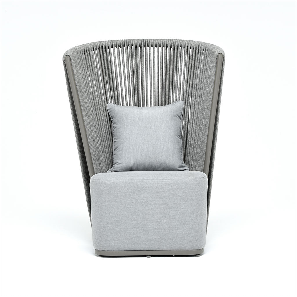 high back outdoor accent chair