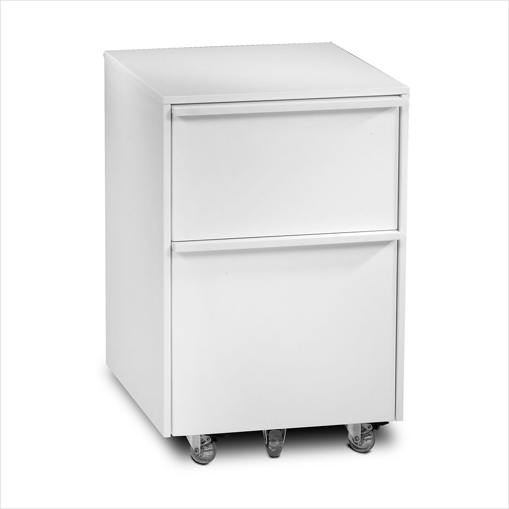 white mobile file unit