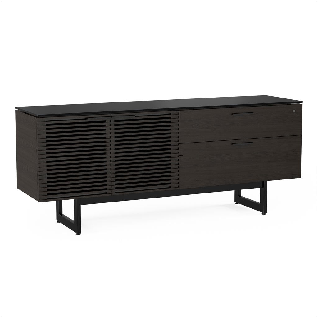 credenza with louvered doors