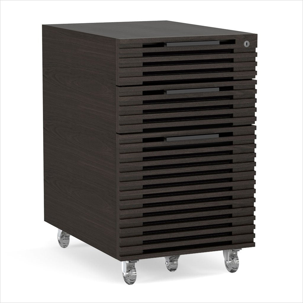 mobile file cabinet with louvered front