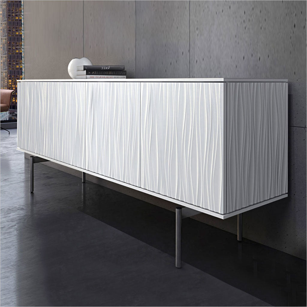 sideboard with textured front