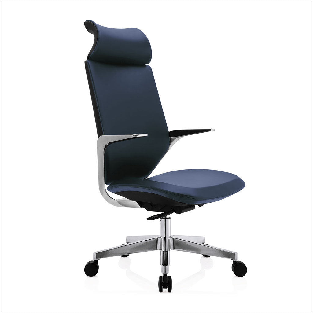 Picture of: Flow Hb Office Chair Navy Blue Scan Design Modern And Contemporary Furniture Store