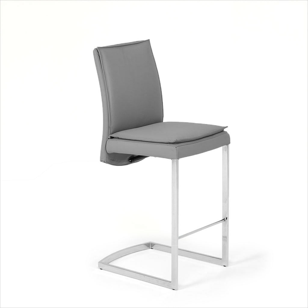 leather counter stool with reclining seat