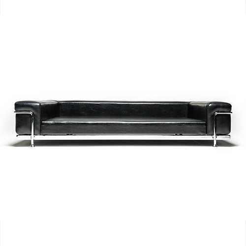 black dog bed with metal frame