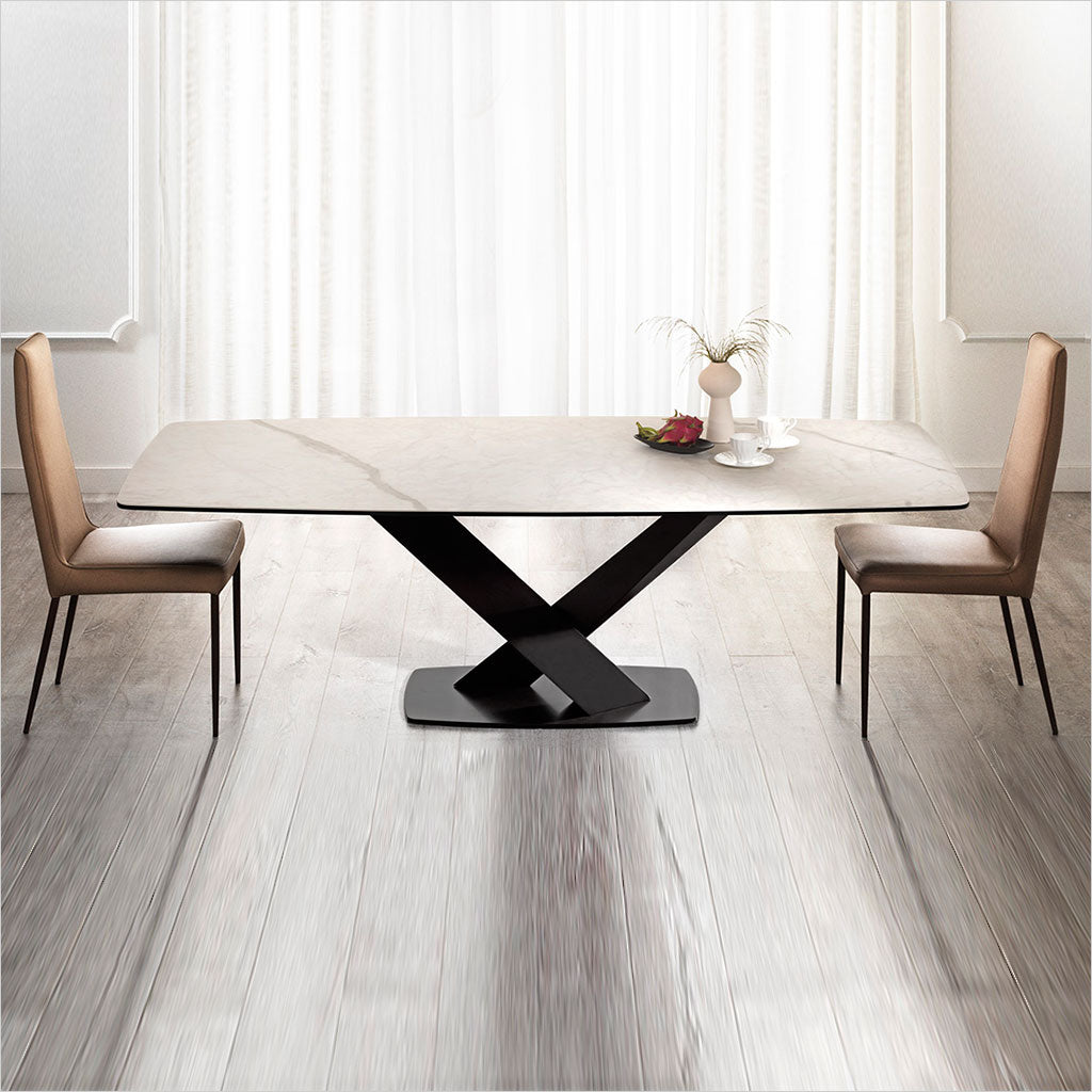 dining table with ceramic top