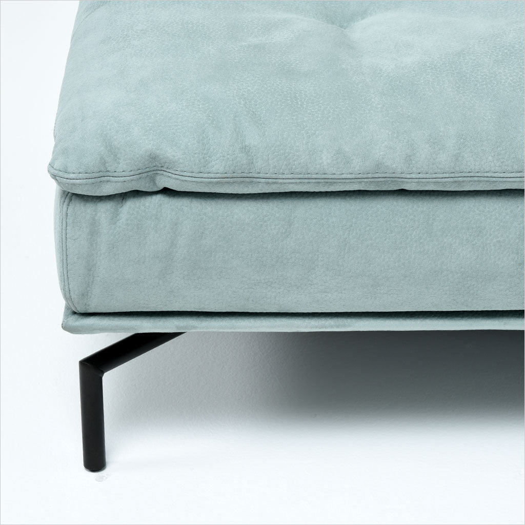 seafoam green sectional with adjustable backs