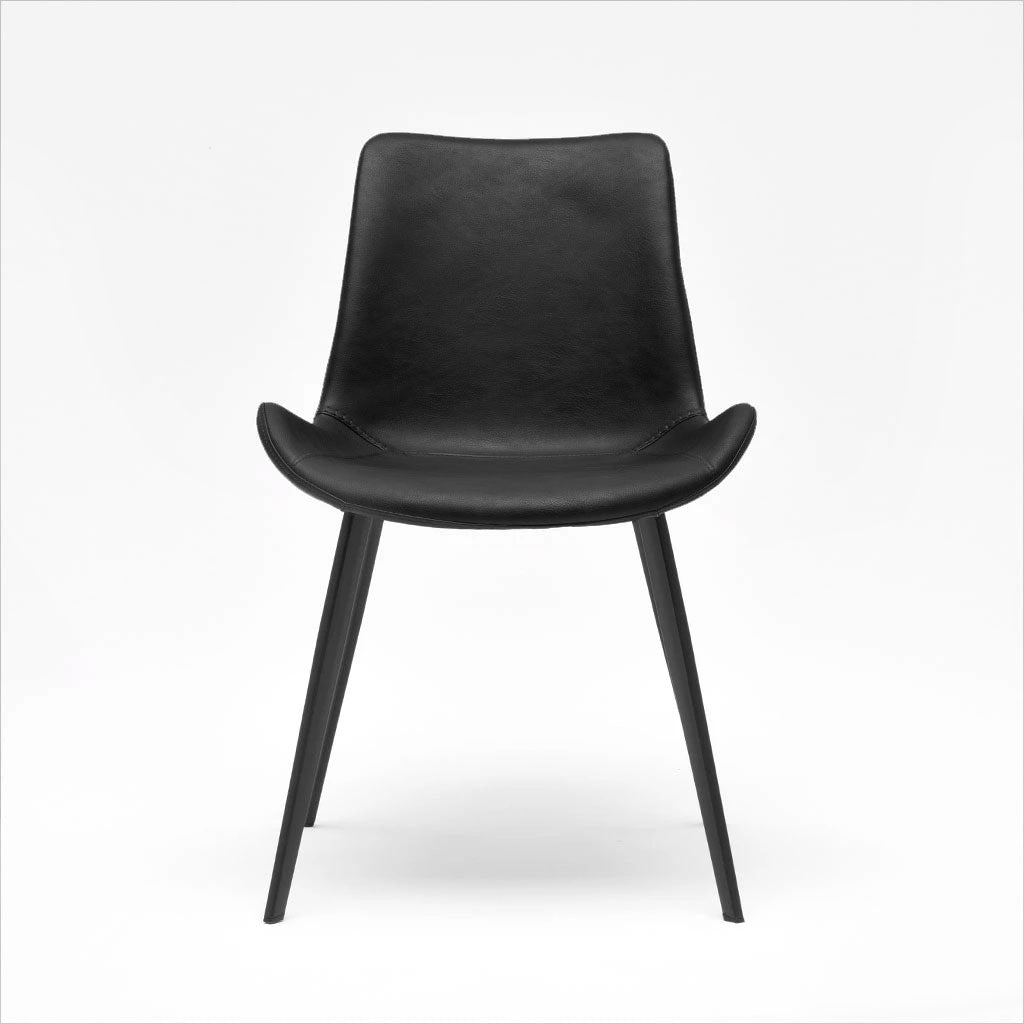 dining chair in black cover