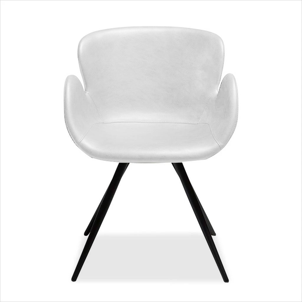 Image of: Rhea Swivel Dining Chair White Scan Design Modern And Contemporary Furniture Store