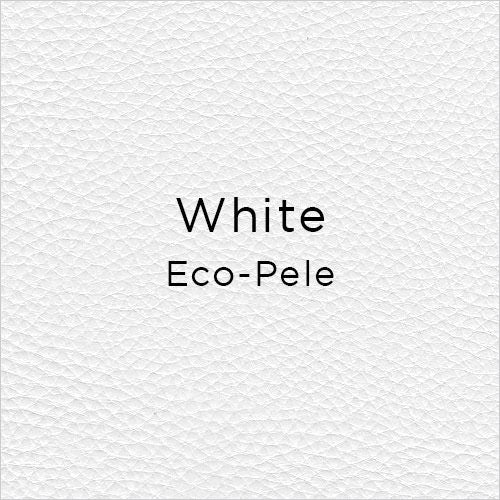 white eco-pele leather swatch