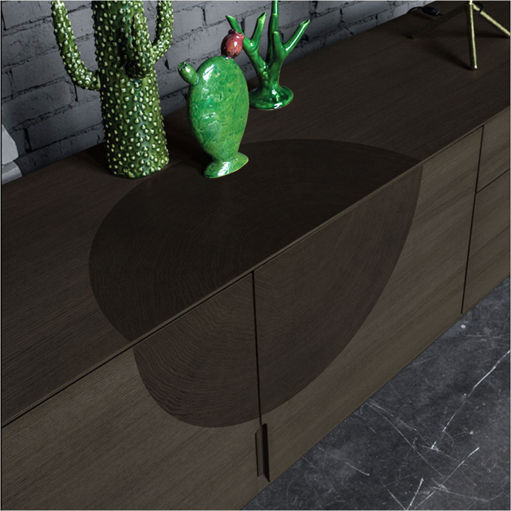 sideboard in grey oak with metal legs