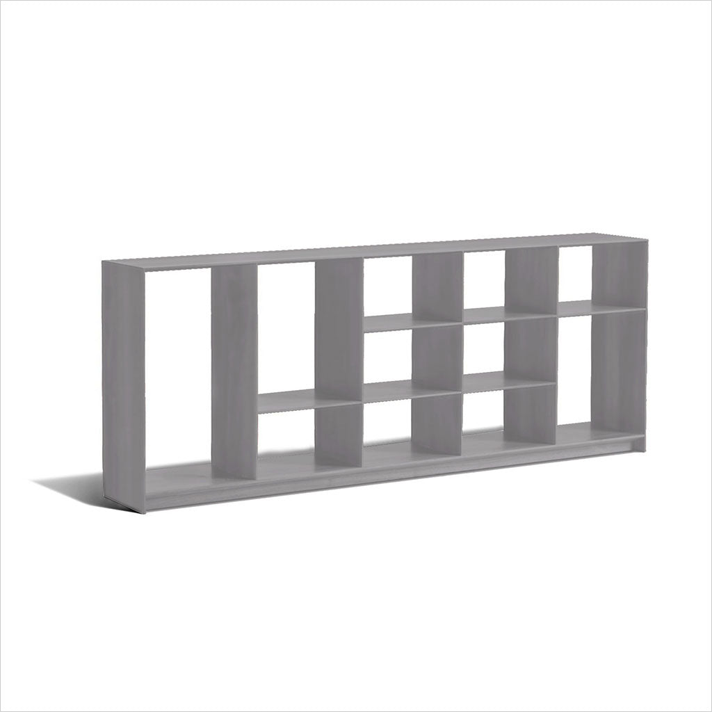 Blade Bookcase Low Grey