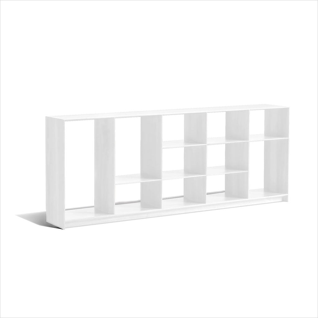 Blade Bookcase Low White