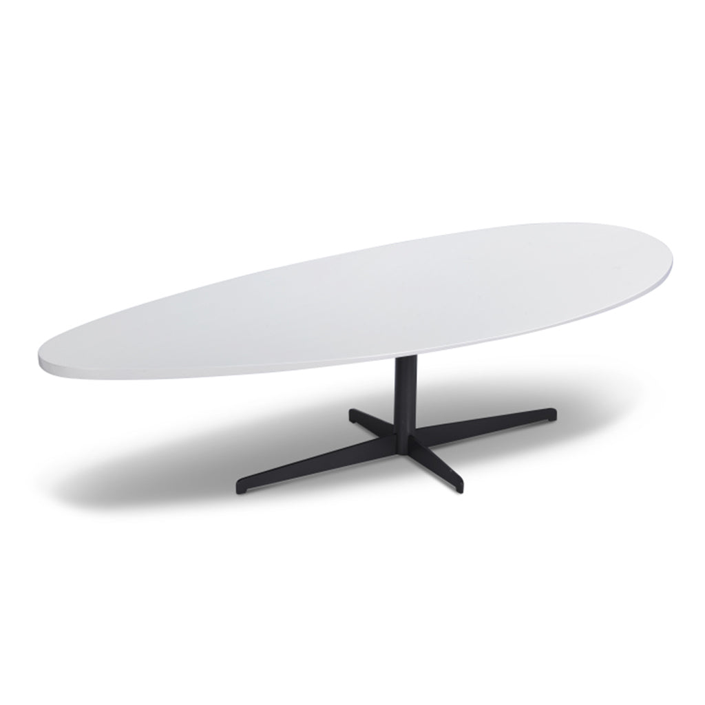white matt laquer top coffee table with pedestal base