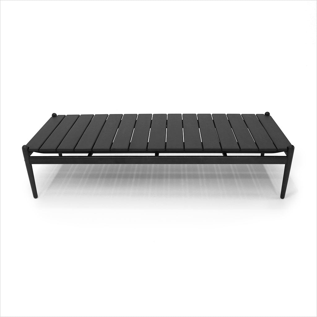 rectangular coffee table in grey eucalyptus