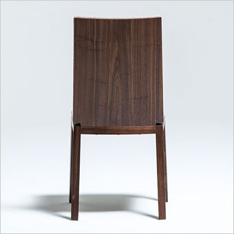 dining chair with walnut frame