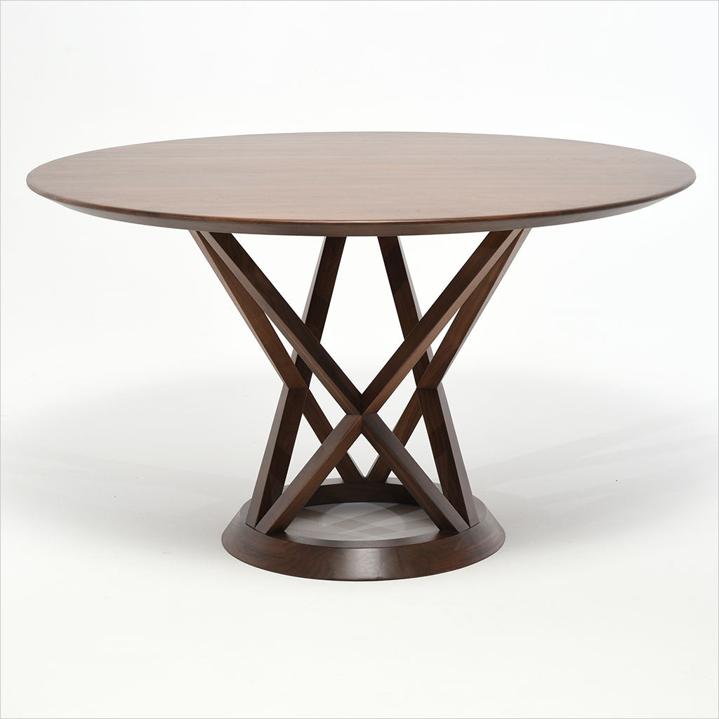 round walnut dining table