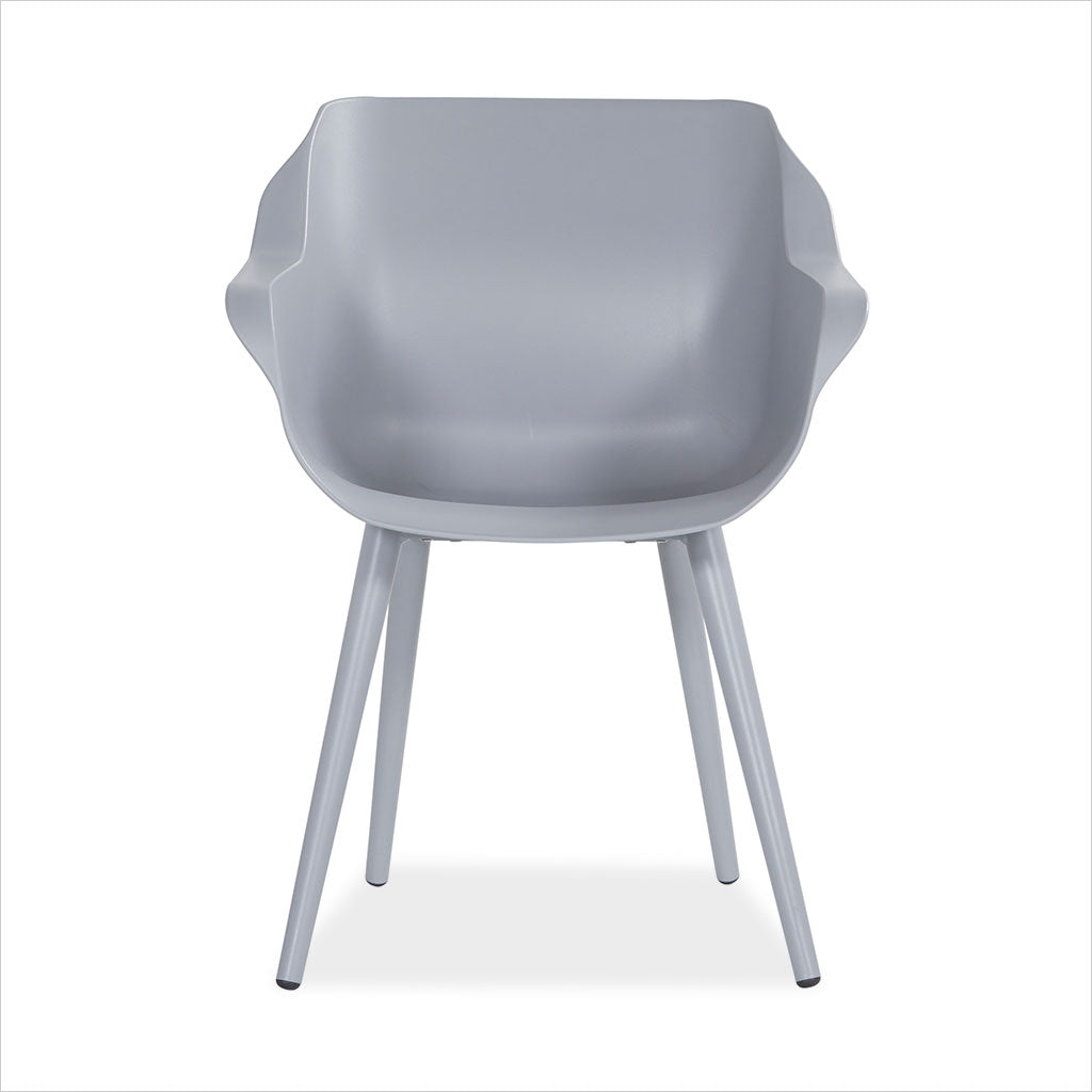 outdoor dining armchair in grey