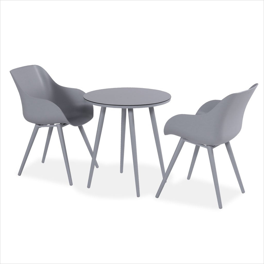 outdoor bistro table in grey