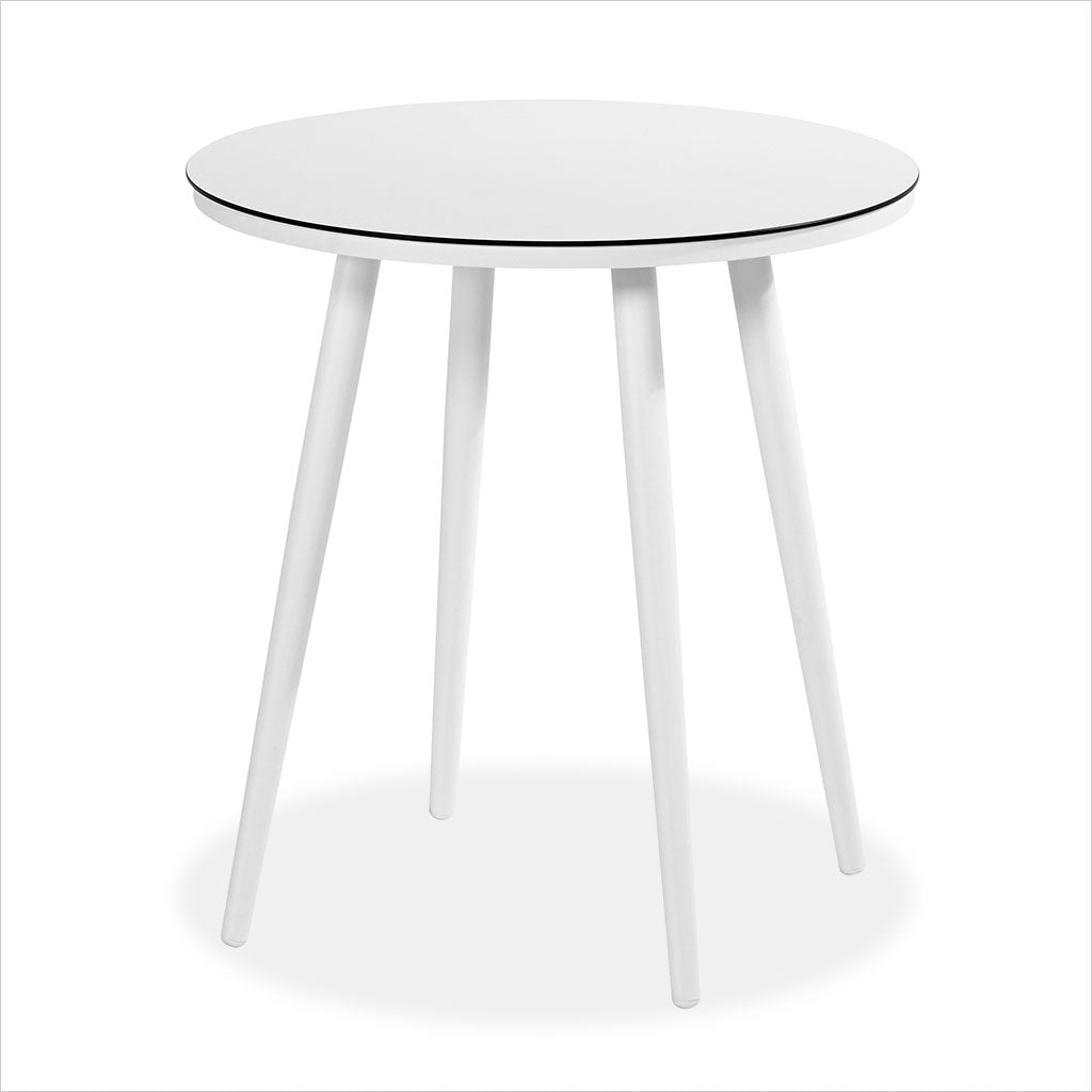 outdoor bistro table in white
