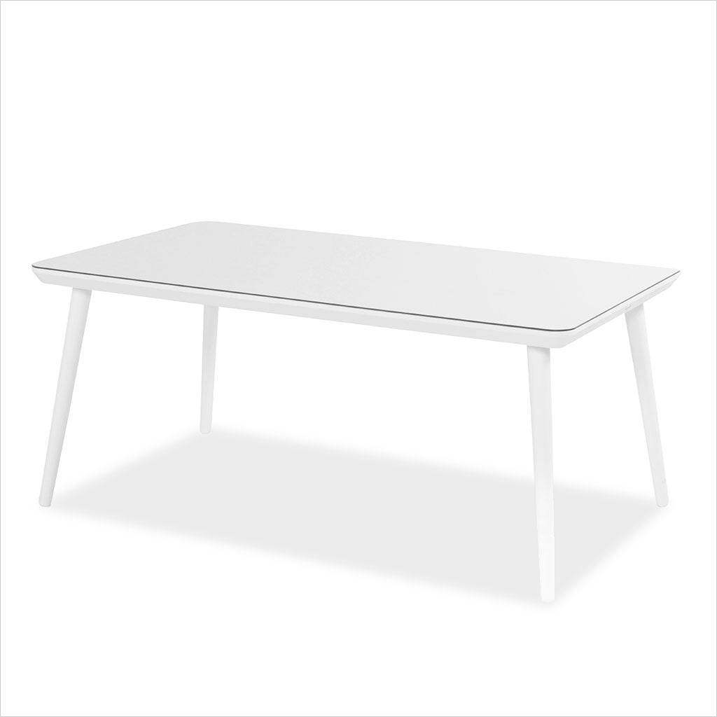 outdoor dining table in white
