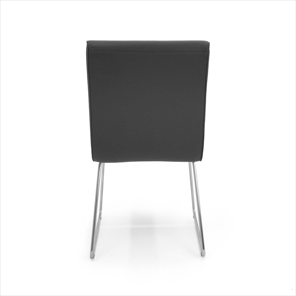 dining chair in grey eco-pele