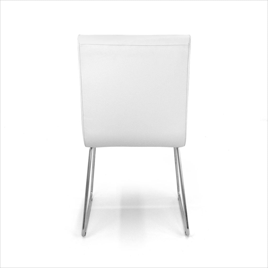 dining chair in white eco-pele