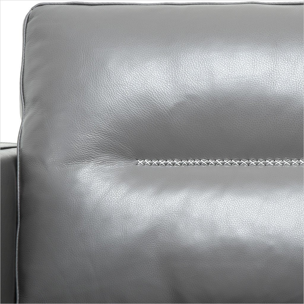 leather armchair with metal legs