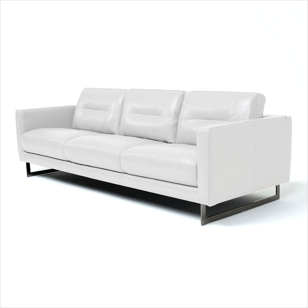 3-seat sofa in white leather