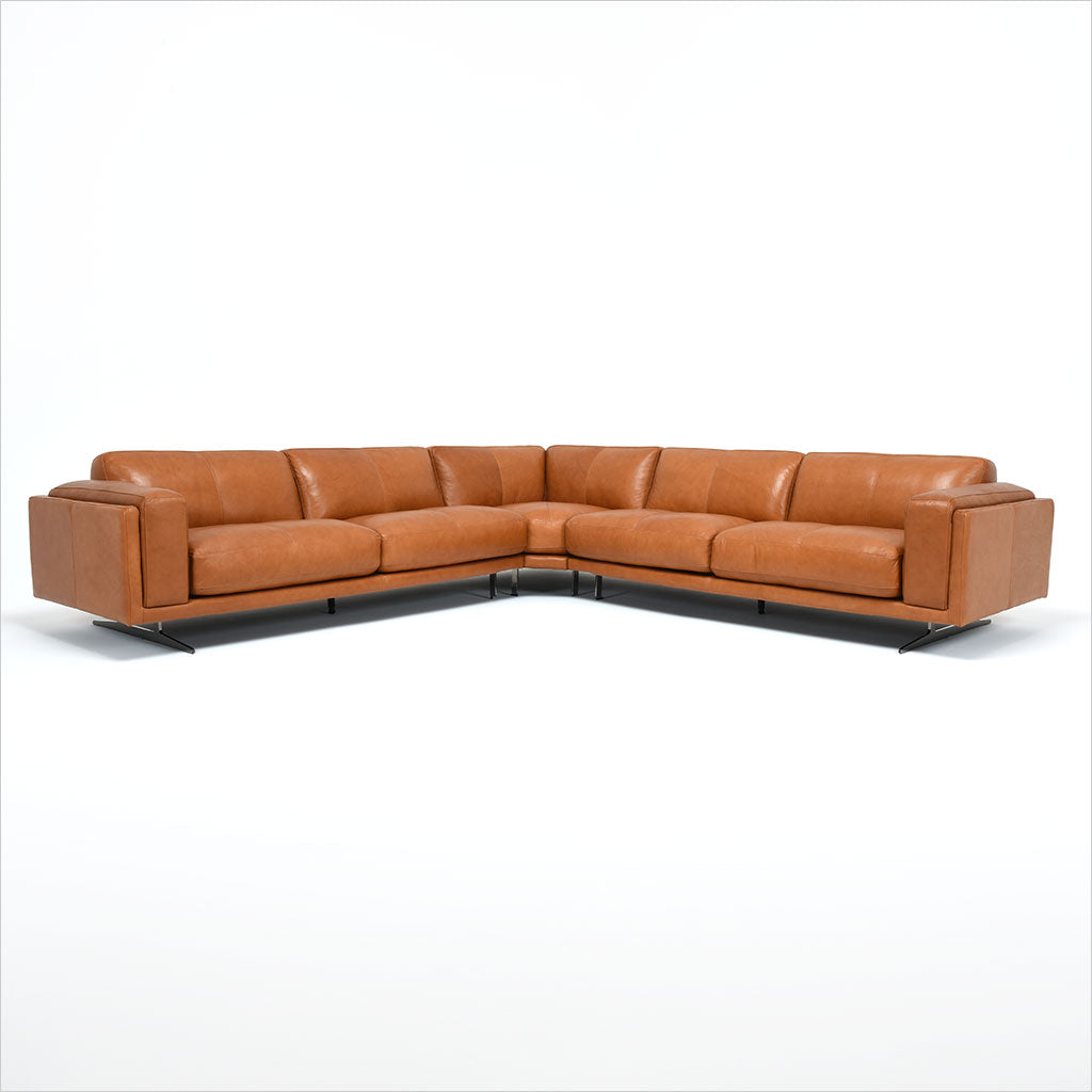 Nabu Sectional Caramel Scan Design Modern And Contemporary Furniture Store
