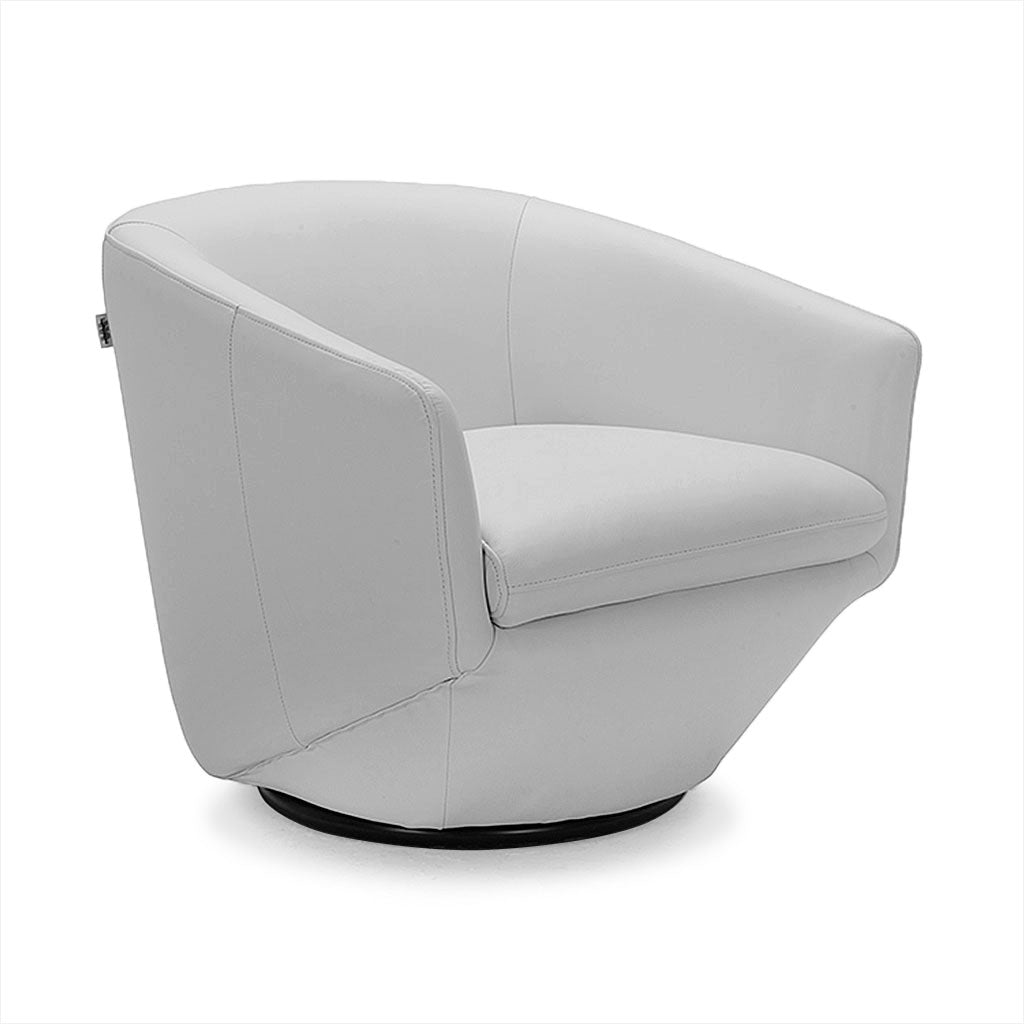 grey leather swivel chair