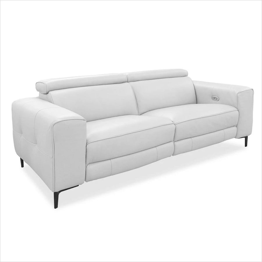reclining leather loveseat