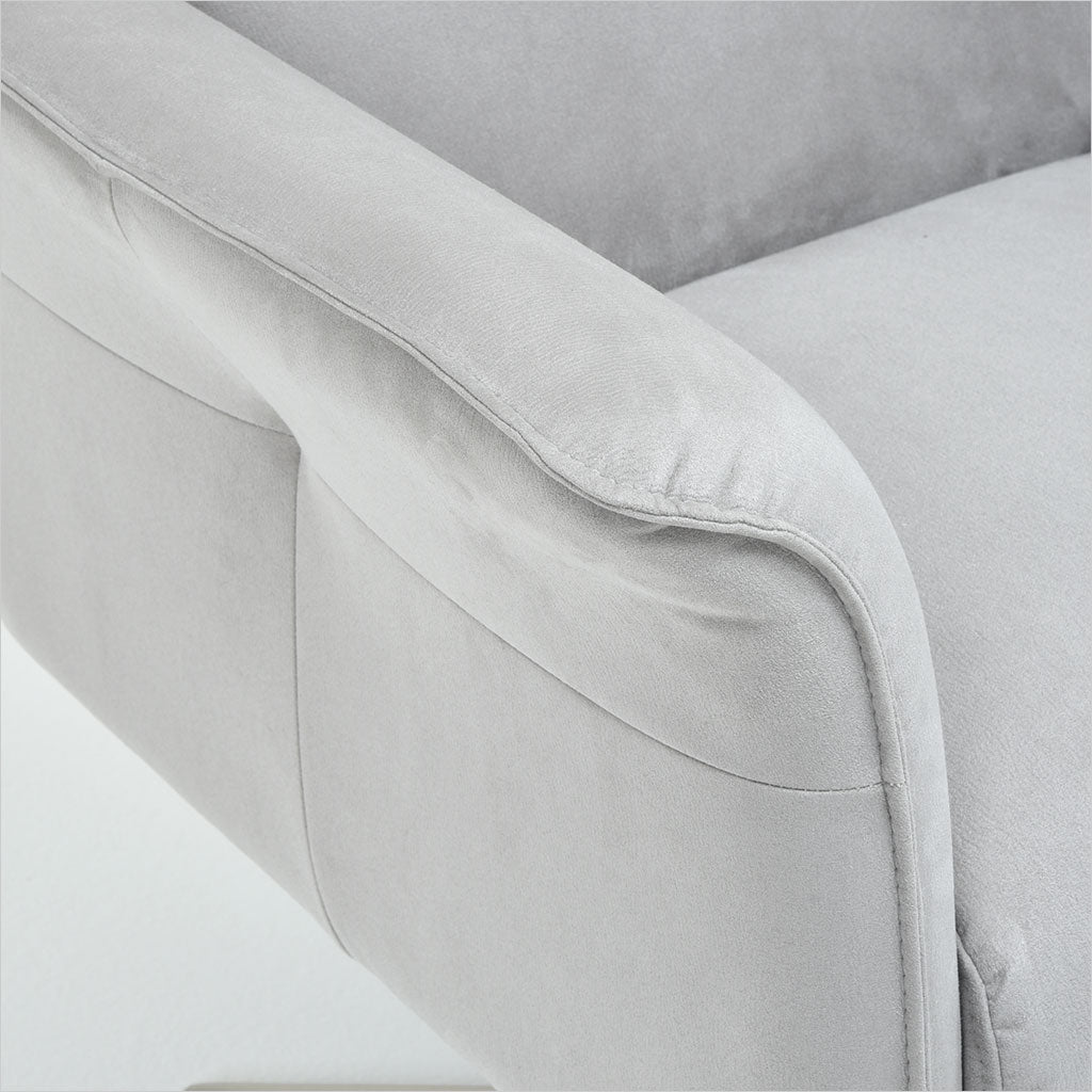 swivel armchair in nubuko microfiber