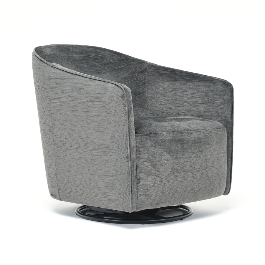 fabric accent chair with swivel base