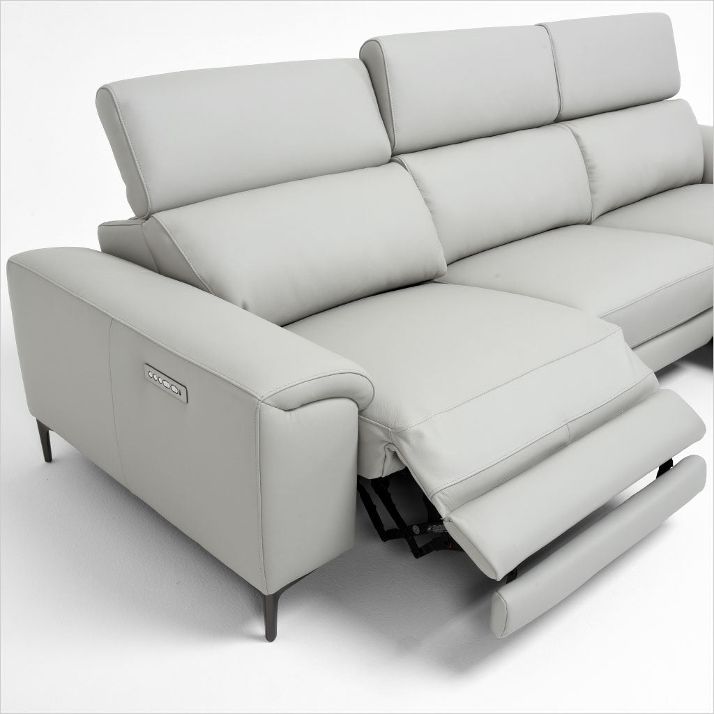 ... Leather Sectional Sofa With Metal Legs ...