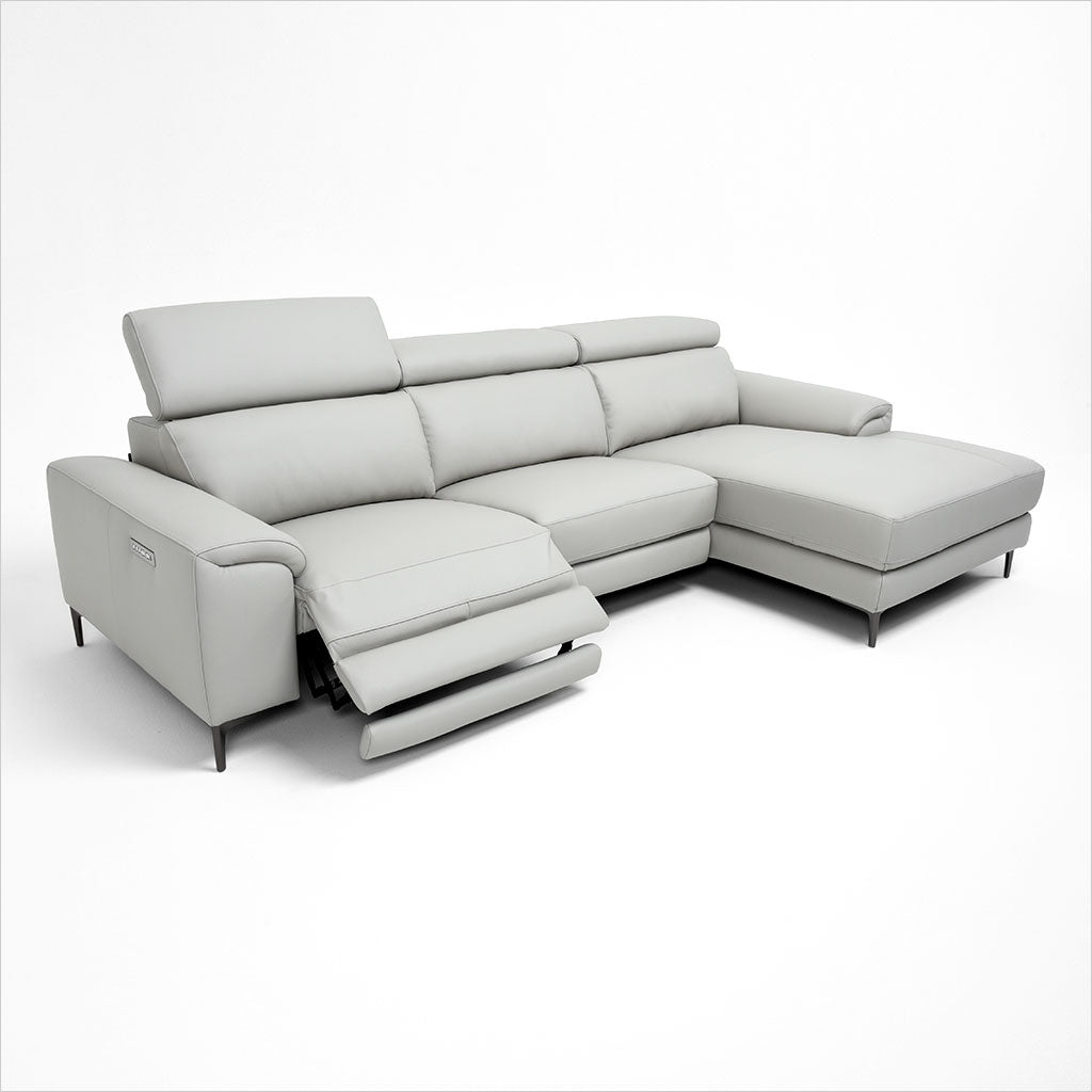 leather sectional sofa with metal legs