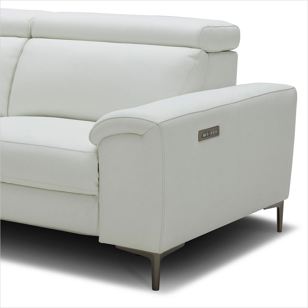 2-seat leather sofa with reclining seats